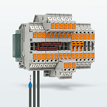 側面接続のPush-in端子台「PTVシリーズ」