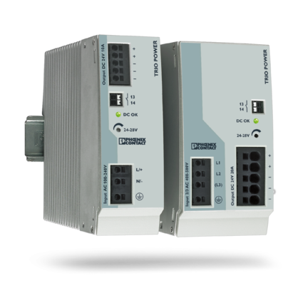 TRIO POWER power supply with standard functionality
