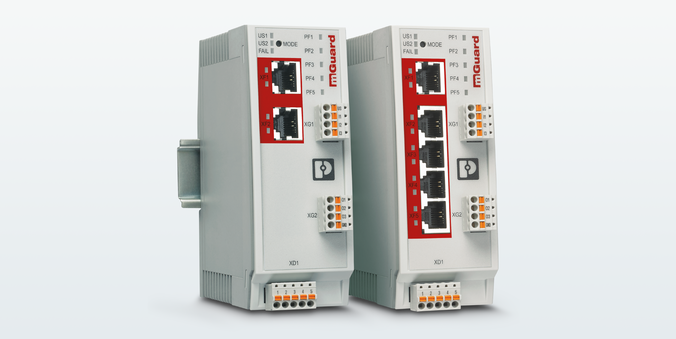 The industrial FL MGUARD 1102 and FL MGUARD 1105 security routers