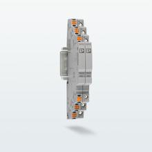 Dwa wąskie ograniczniki przepięć z przyłączem Push-in i śrubowym dla aplikacji telekomunikacyjnych