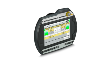 Mobile control panel with integrated safety elements