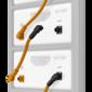 Batteripolpluggforbindere for ubegrenset kabling