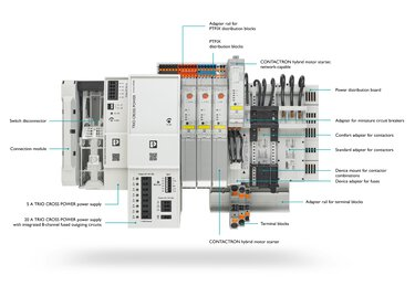 Power distributor with integrated busbar