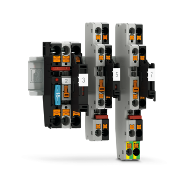 Fuse terminal blocks for simple protection