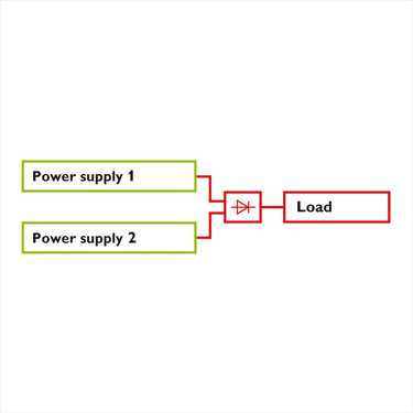 Decoupling with diode modules
