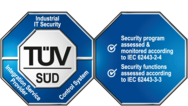 TÜV seal for Industrial IT Security IEC 62443