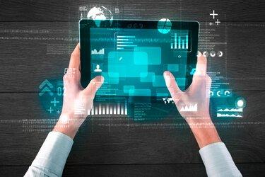 Tablet visualizing the digitalization