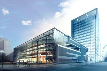 建築物外部與建築規劃視圖