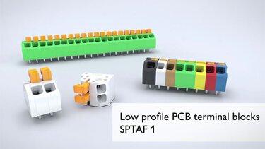 SPTAF 1 PCB terminal blocks from Phoenix Contact