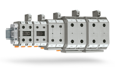 High-current terminal blocks with screw connection