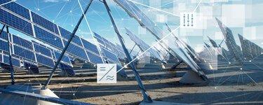 Parc solaire avec des panneaux