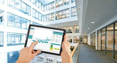 在平板電腦上操控建築管理系統 Emalytics