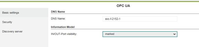 Sterownik z PLCnext Technology: Udostępnianie danych – OPC UA