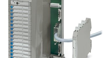 MACX Analog Termination Carrier and DIN rail device