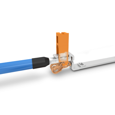 Connecting a conductor with a vertical Push-in connection