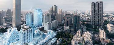 俯瞰城市數位化建築物