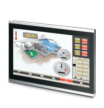 Multi-touch panel PC for process visualization and control