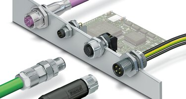 Raccordement des appareils avec des connecteurs circulaires de taille M5 à M12