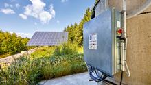 Nachführung von Trackern im Photovoltaikpark Falkenberg