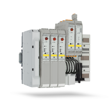 Hybrid motor starters for the power distribution system