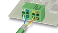 Versatile PCB terminal blocks – fixed connections in PROFINET environments