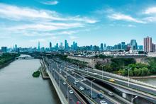 Snelweg in metropolen
