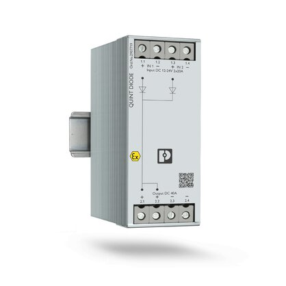 Diode module for the DIN rail