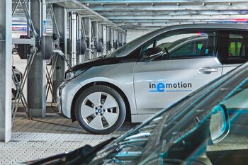 Bechtle: Staff parking garage with charging stations for 50electric cars