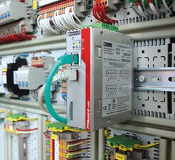 mGuard security router in a control cabinet