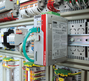 Installing the FL mGuard security router in a control cabinet