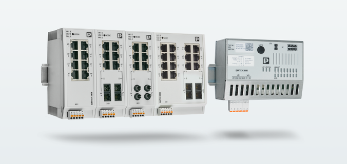 2200, 2300, 2400, and 2500 series Managed Switches with different port characteristics