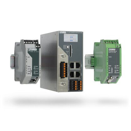 Ethernet extenders, PROFIBUS extenders, and serial extenders - easy network connection