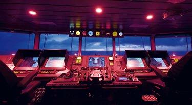 船隻的指揮駕駛臺