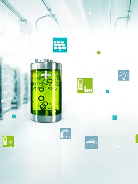 Visualisation de la technologie de raccordement des systèmes d'accumulateurs d'énergie