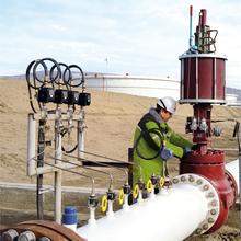 Sensoren der Messstation an der Pipeline