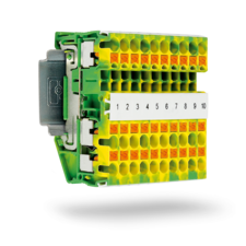 Push-in technology ground terminal block