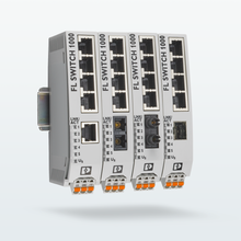 Four Unmanaged Switches with copper ports and various fiberglass connections
