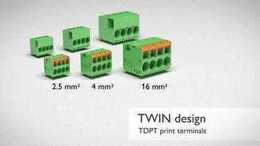 TDPT series TWIN design PCB terminal blocks