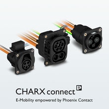 CHARX connect vehicle charging inlets