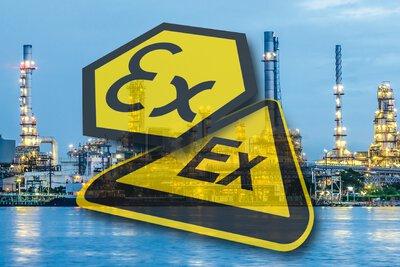 過程工業照片前的防爆符號