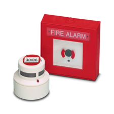 Affixing information signs for fire alarm systems