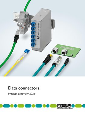 Photo of the cover page of the data connectors brochure