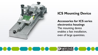 Mounting device for ICS series housings