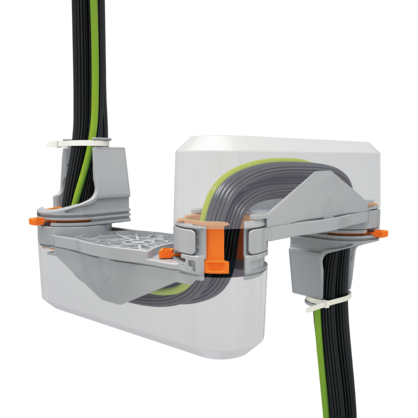 Cable guiding system