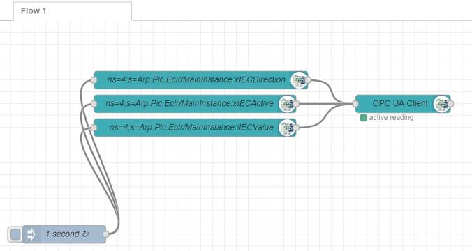 Konfiguracja klienta w Node-RED w sterowniku plc next technology