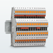 Double-level terminal blocks with Push-in connection – lateral conductor connection for several levels
