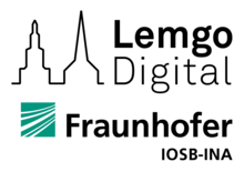 Logotipo de Lemgo Digital y Fraunhofer IOSB-INA
