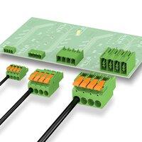 Connecteurs à levier pour circuits imprimés