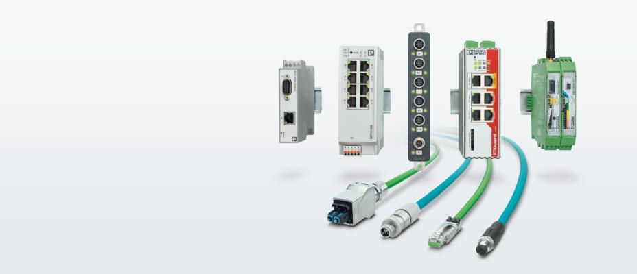 Componentes de red modernos para redes industriales