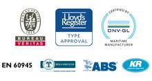 Logotipos de los certificadores navales